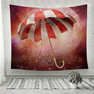 Fantasy scenery with umbrella Wall Tapestry