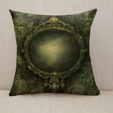 Ornate baroque mirror Throw Pillow [With Inserts]