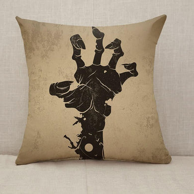 Zombie hand vintage Throw Pillow [With Inserts]