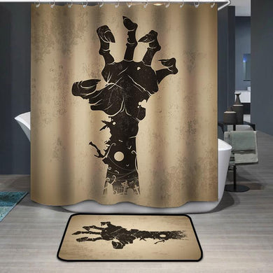 Zombie hand vintage Shower Curtain