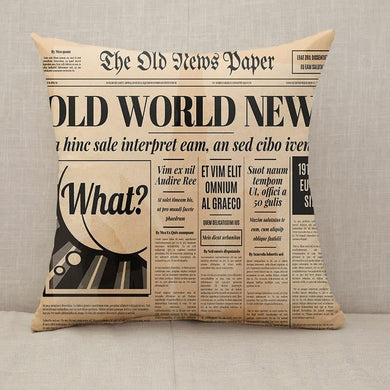 Old newspaper design Throw Pillow [With Inserts]