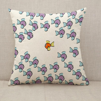 Swim Against The Tide Fish Throw Pillow [With Inserts]