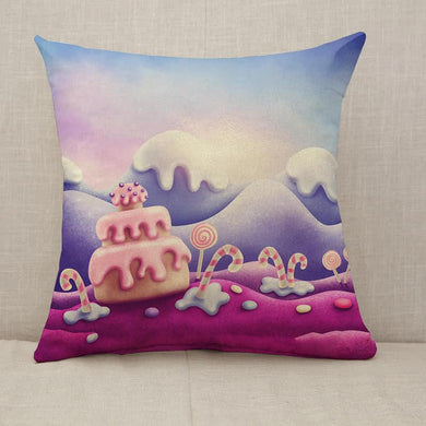 Fantasy sweet land Throw Pillow [With Inserts]