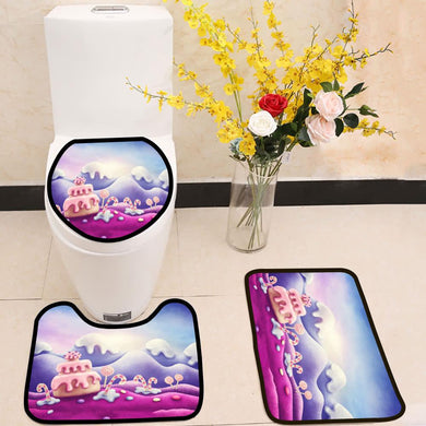 Fantasy sweet land 3 Piece Toilet Cover Set