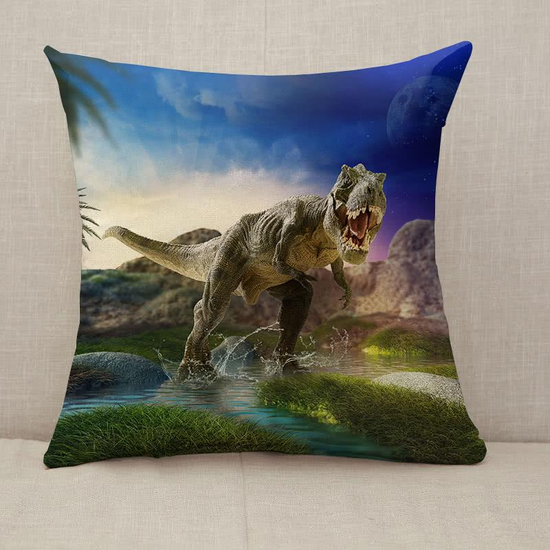 Dinosaur 3D render Throw Pillow [With Inserts]