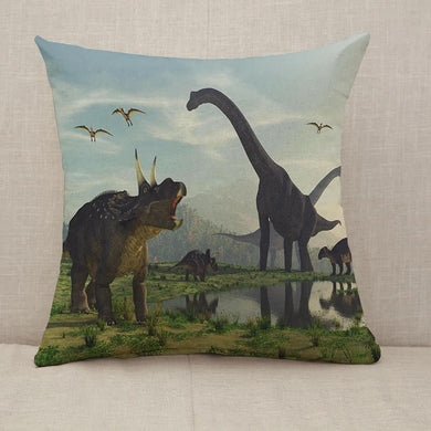 The family dinosaur Throw Pillow [With Inserts]