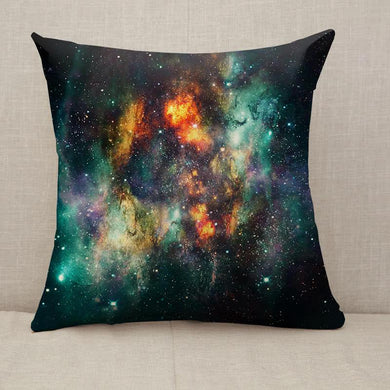 ArtisticSupernova Explosions In Multicolored Glowing Nebula Galaxy Throw Pillow [With Inserts]