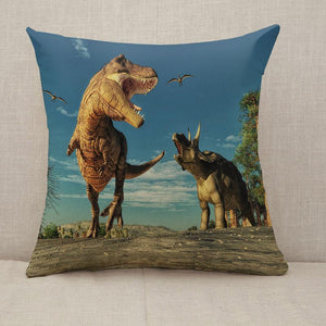 3D render dinosaurs Throw Pillow [With Inserts]