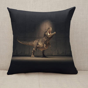 Single Dinosaur Throw Pillow [With Inserts]
