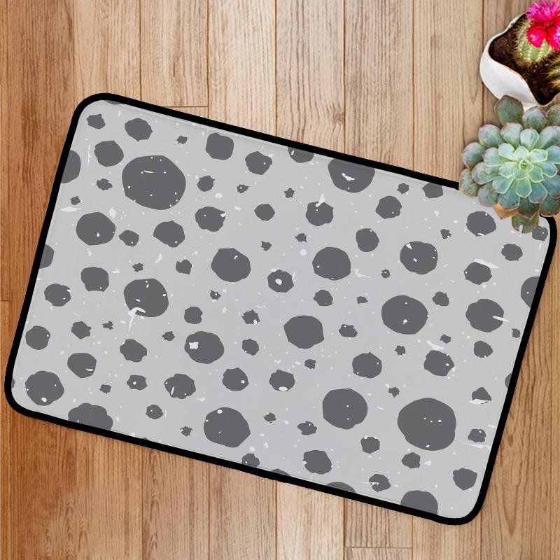 Abstract speckled pattern with grey shabby spots Bath Mat