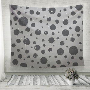 Abstract speckled pattern with grey shabby spots Wall Tapestry