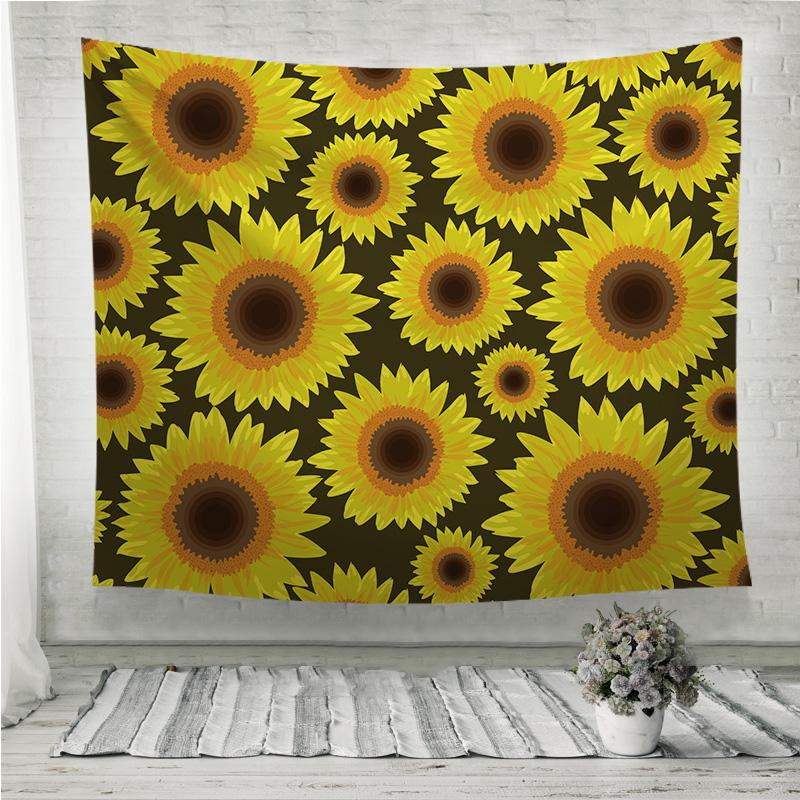 Sunflower seamless pattern Wall Tapestry