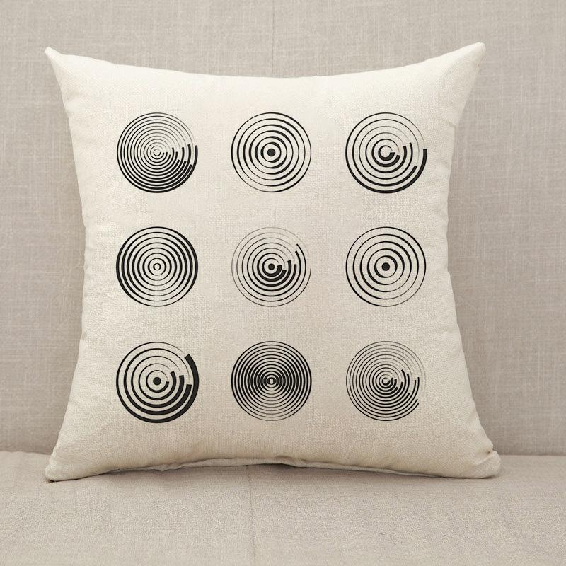 Concentric circles abstract geometric vector patterns Throw Pillow [With Inserts]