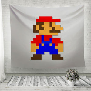 Pixel Super Mario Wall Tapestry