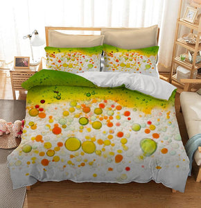 Water and oil bubble background Custom Printing Comforter