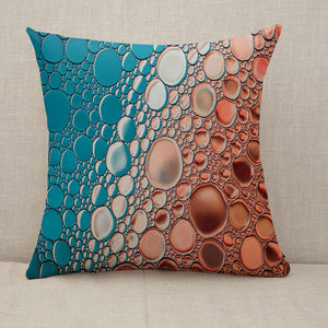 Bright water oil bubble background Throw Pillow [With Inserts]