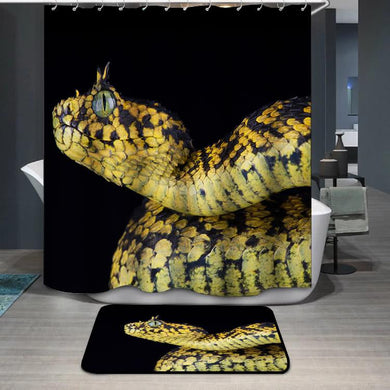 The Usambara bush viper Atheris ceratophora snake Shower Curtain