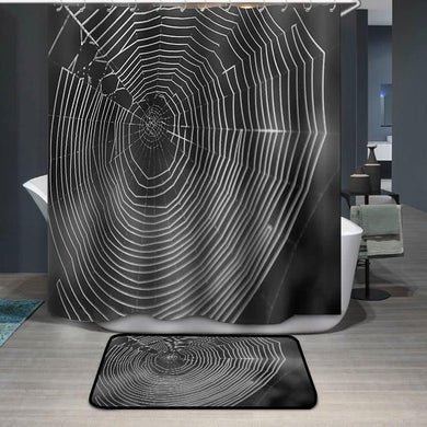 Black and White Spiderweb Shower Curtain