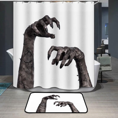 Black hand of death zombie hands Shower Curtain