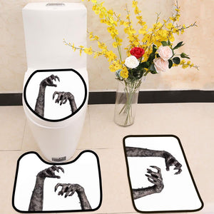 Black hand of death zombie hands 3 Piece Toilet Cover Set