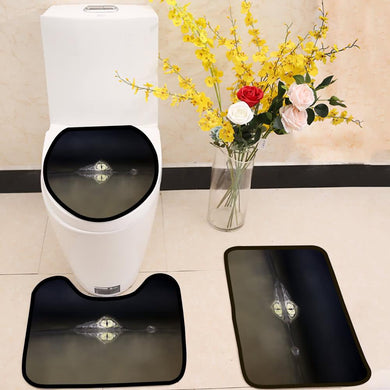 The spectacled caiman crocodilus 3 Piece Toilet Cover Set