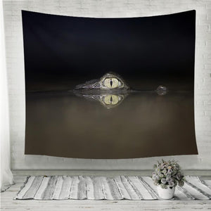 The spectacled caiman crocodilus Wall Tapestry
