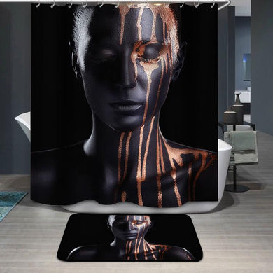Art fashion makeup Shower Curtain