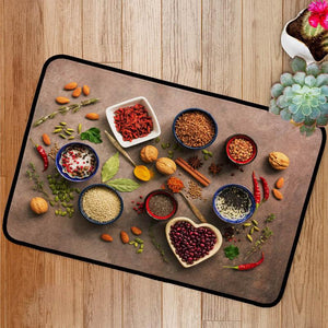 Super food background spices nuts Bath Mat