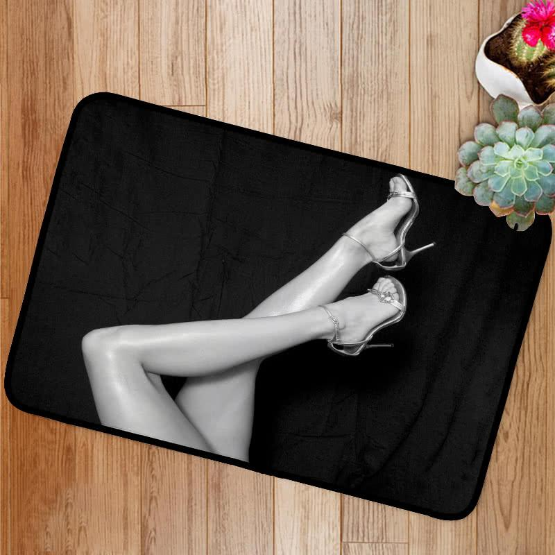 Beautiful Legs in black and white Bath Mat