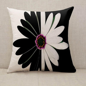 Black and white flower balance Throw Pillow [With Inserts]