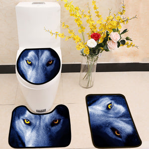 Beautiful eyes of a wild wolf 3 Piece Toilet Cover Set