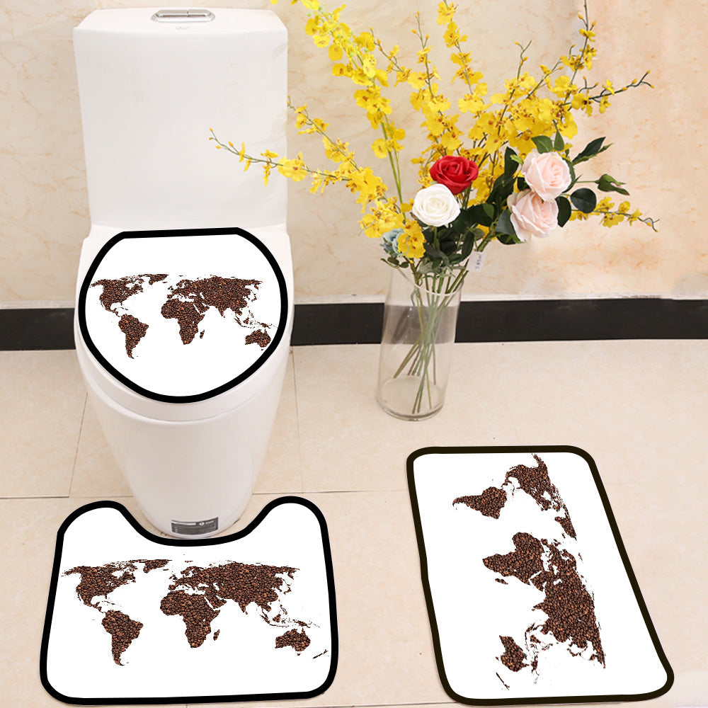Coffee world 3 Piece Toilet Cover Set
