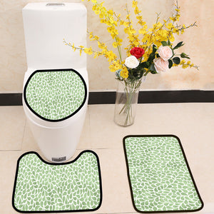 Elegant green floral seamless pattern 3 Piece Toilet Cover Set