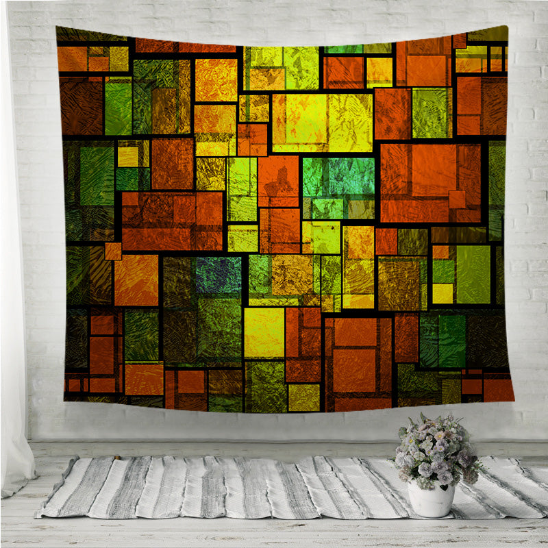 A colorful stained glass wall Wall Tapestry