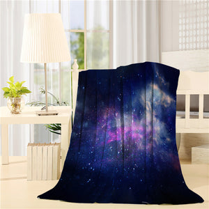 Galaxy and nebula Starry outer space Printed Throw Blanket