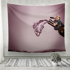 Crazy Drunk Man Wall Tapestry