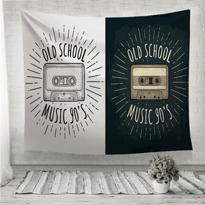 Retro audio cassette Wall Tapestry