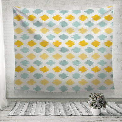 Seamless geometric pattern ikat fabric style Wall Tapestry