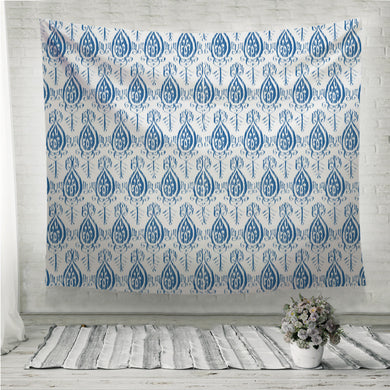 Vector seamless ikat indigo pattern Wall Tapestry