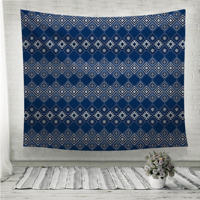 Ikat geometric folklore ornament Tribal ethnic Wall Tapestry