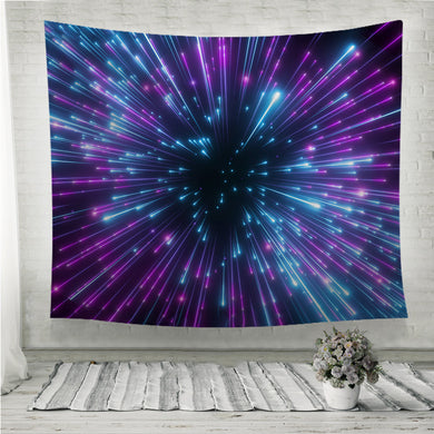 Purple fireworks big bang galaxy abstract cosmic background Wall Tapestry