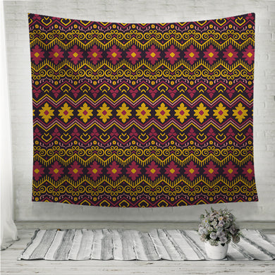 Embroidery Ethnic Ikat style design Wall Tapestry