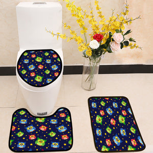 Cartoon cute owls and stars 3 Piece Toilet Cover Set