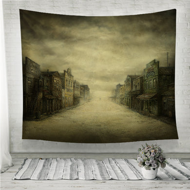 Wild West Town Wall Tapestry