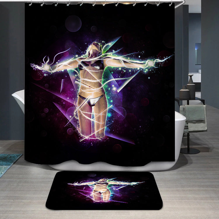 Sparking girl Shower Curtain