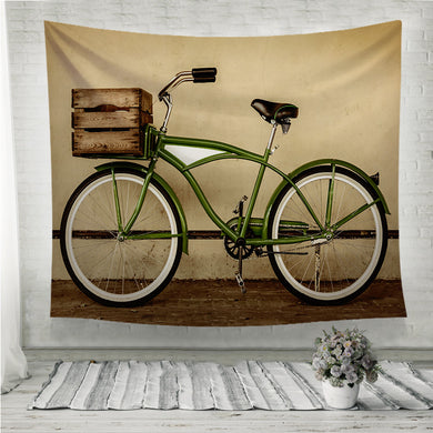 Retro styled sepia image of a vintage bicycle Wall Tapestry