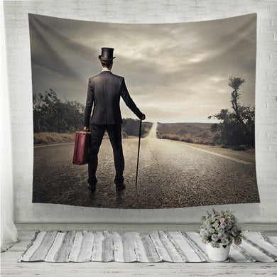 Vintage man ready to go Wall Tapestry