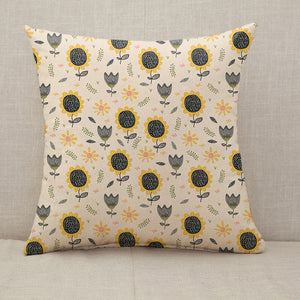 Sun flower pattern drawing  Throw Pillow [With Inserts]