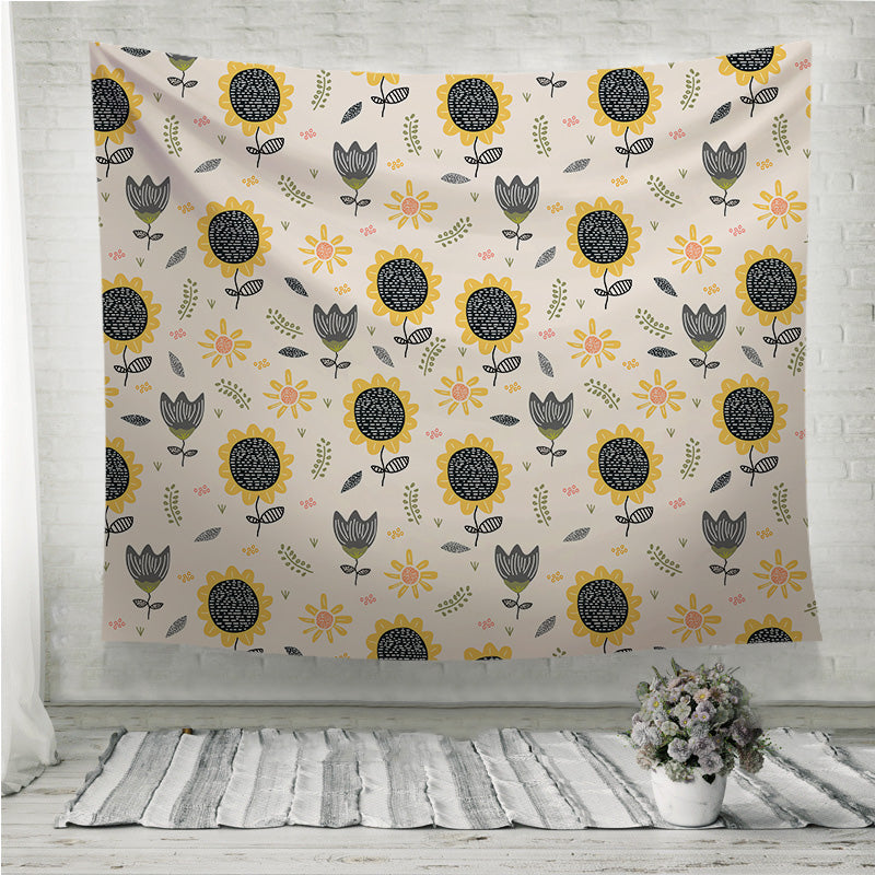 Sun flower pattern drawing  Wall Tapestry