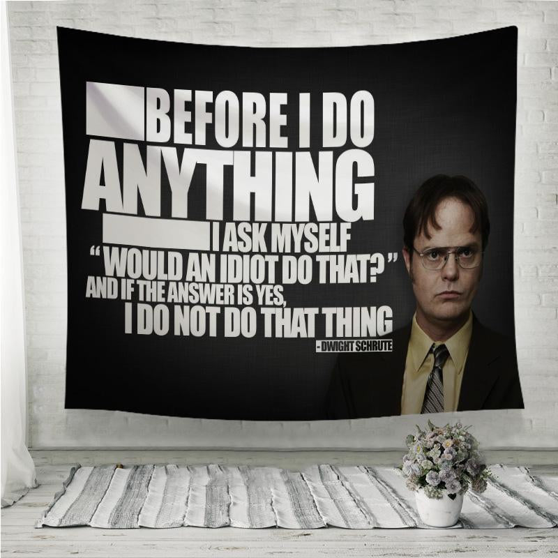 dwight schrute meme Wall Tapestry